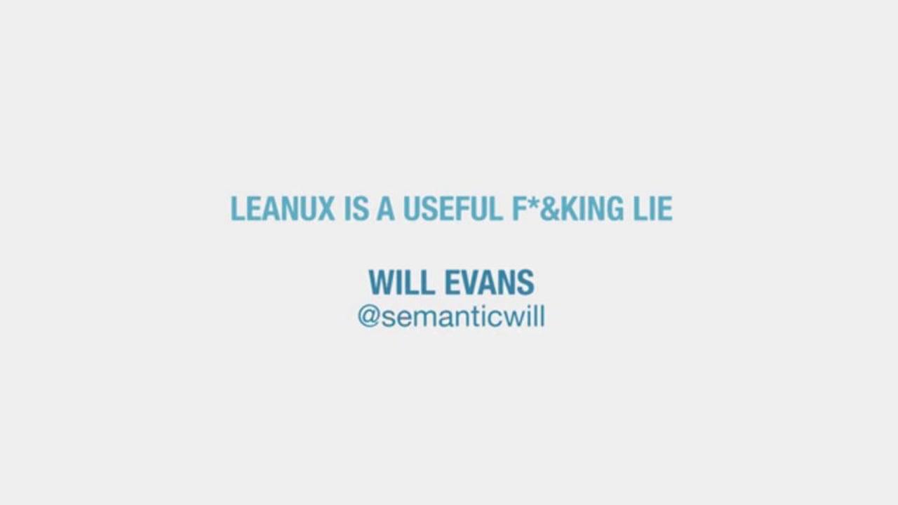 Lean UX is a Useful F***ing Lie