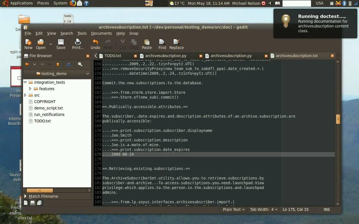 Outside-in development with Ubuntu