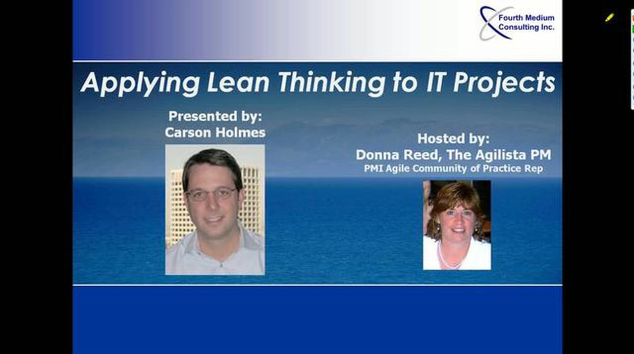 Applying Lean Thinking to IT Projects