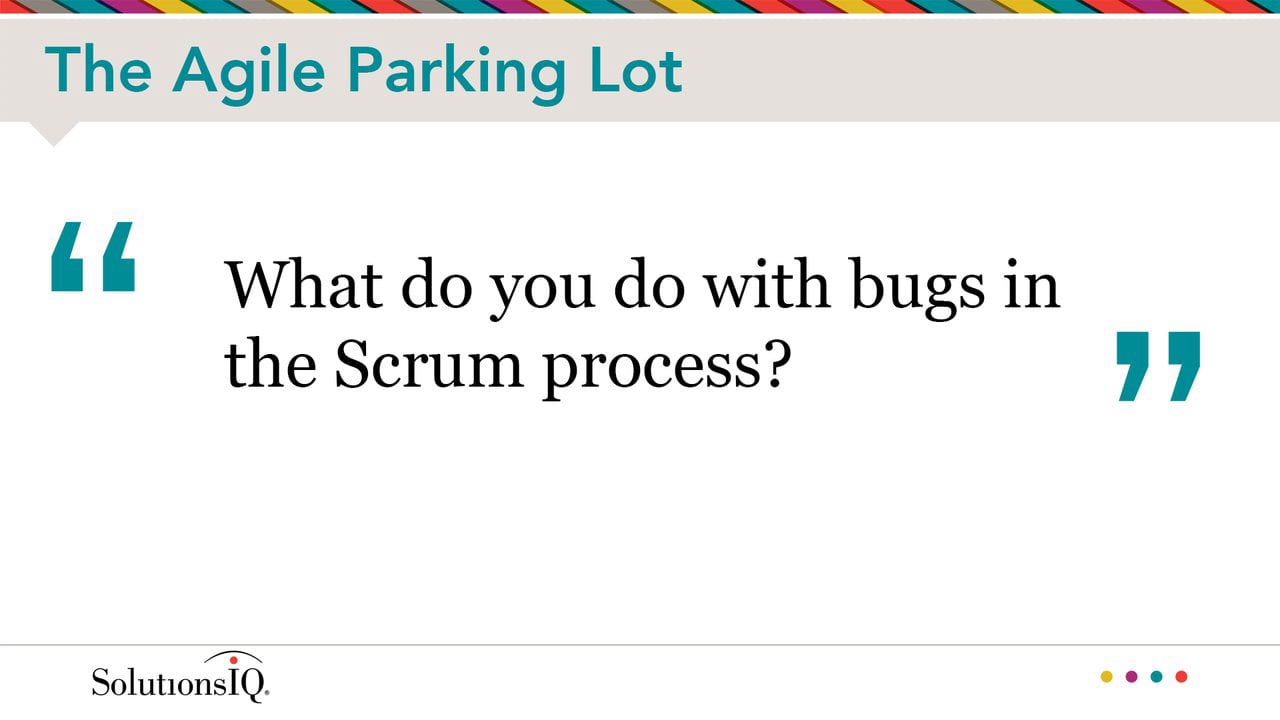 What to Do with Bugs in the Scrum Process?